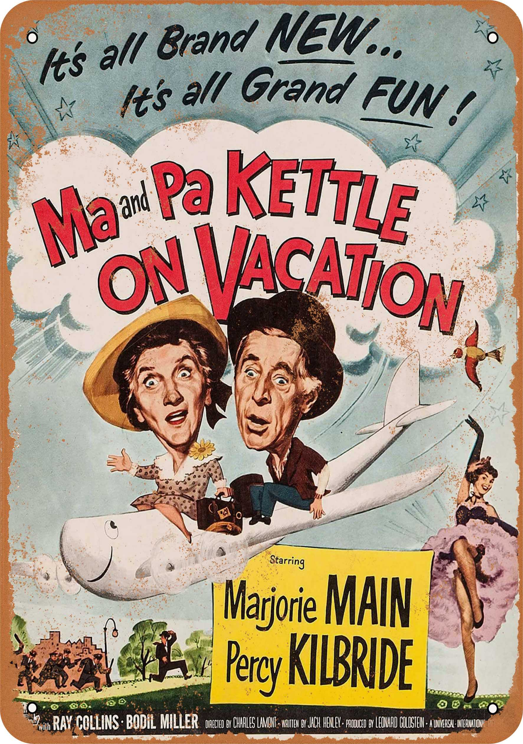 "9"" x 12"" 1953 Ma and Pa Kettle On Vacation Vintage Look Reproduction Metal Sign 50793L"
